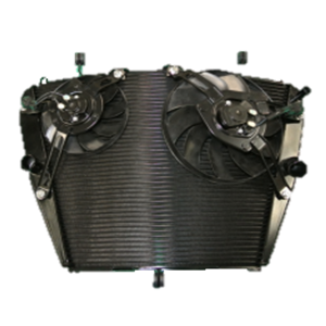 Trapezoid Shape Curved Radiator for Motorcycle